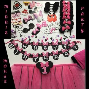 Disney Minnie Mouse 1st Birthday Party Decoration